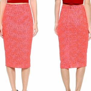 A.L.C. Pink Towner Rose Embroidered Lace Skirt